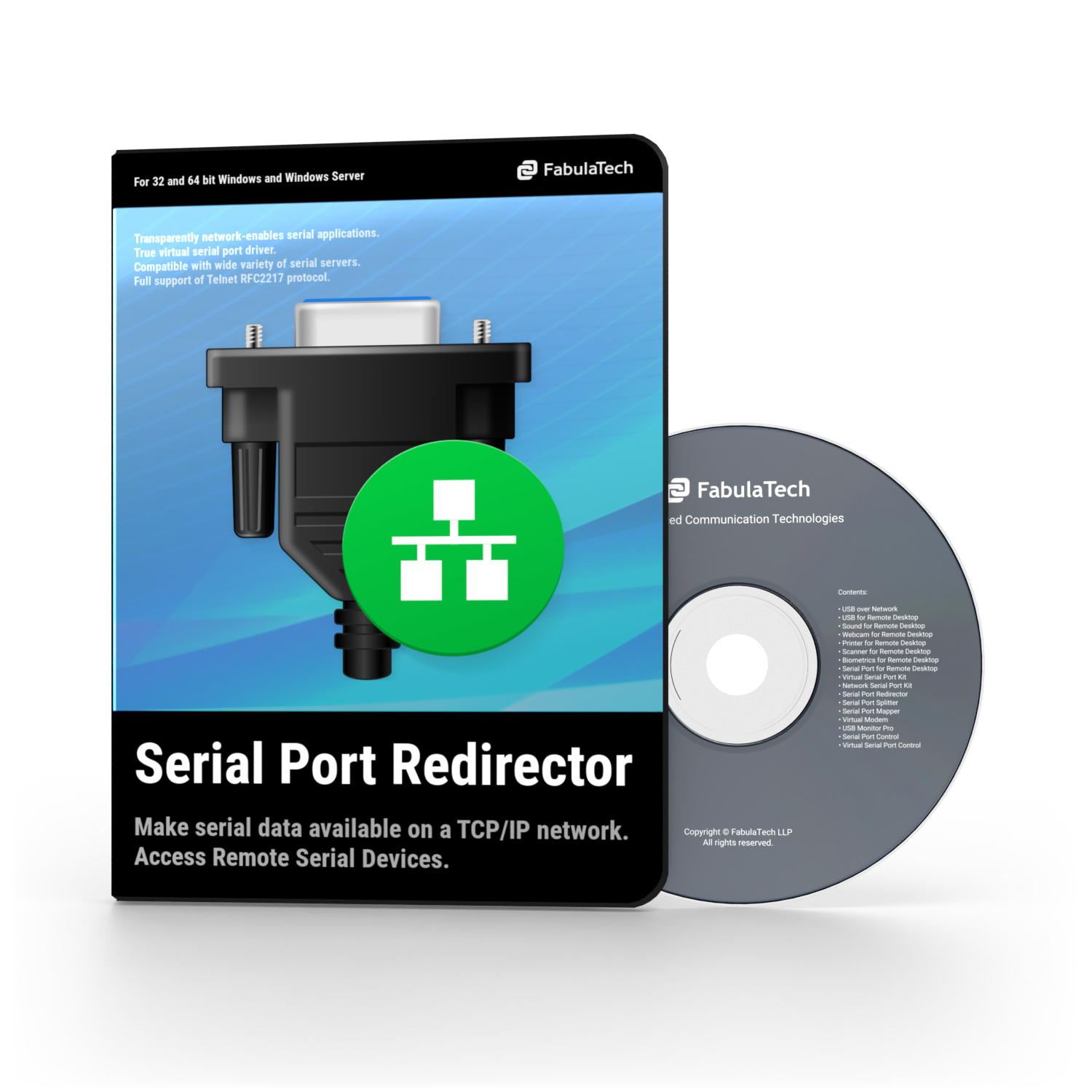 Serial Port Redirector Box and CD PNG 750x750