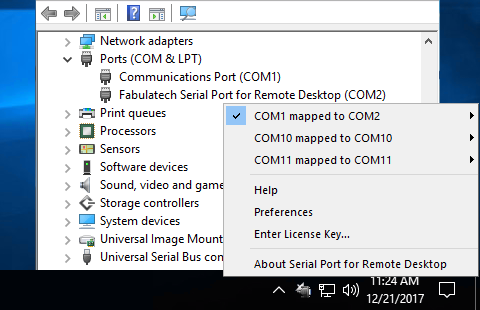 Serial Port for Remote Desktop